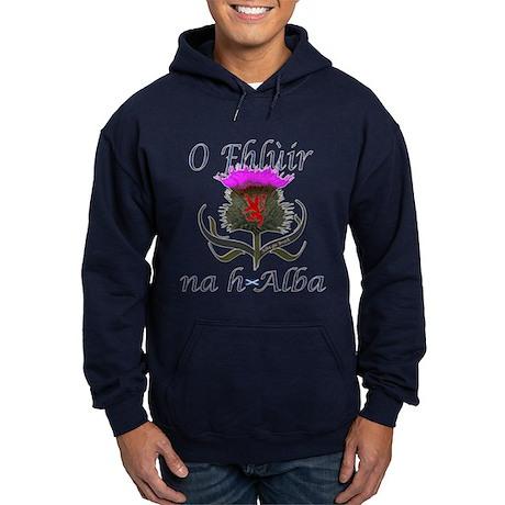 Flower of Scotland Gaelic Thistle Hoodie (dark)
