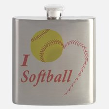 Girls softball Flask