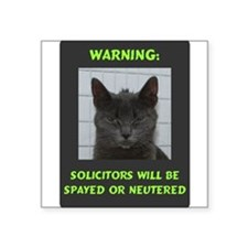 "No Solicitations Square Sticker 3"" x 3"""