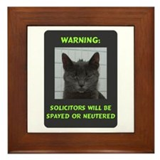 No Solicitations Framed Tile