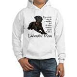 Black labrador Hooded Sweatshirt
