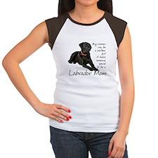 Black Lab Women's Cap Sleeve T-Shirt