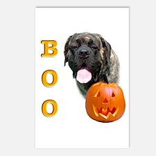 Halloween Brindle Mastiff Boo Postcards (Package o