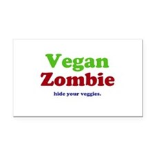 Vegan Zombie Rectangle Car Magnet