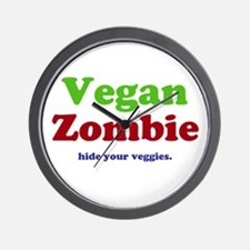 Vegan Zombie Wall Clock