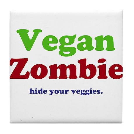 Vegan Zombie Tile Coaster