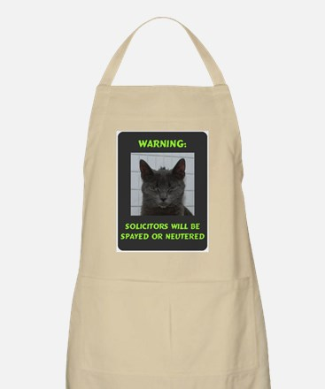 No Solicitations Apron