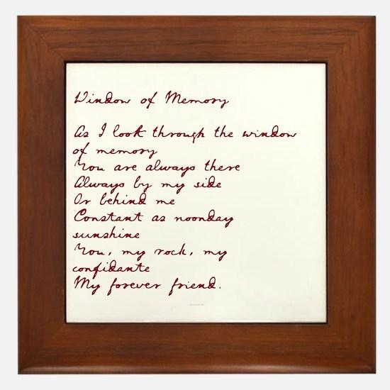 Window of Memory Framed Tile