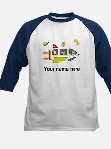 Personalized Space Kids Shirt Raglan Sleeves