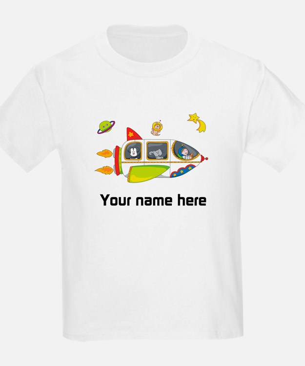 Personalized Space Kids T-Shirt
