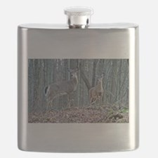 Doe with fawn Flask