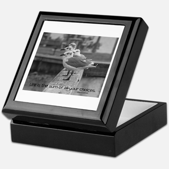 Albert Camus Quote Keepsake Box