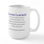 Left-handed Lessons Learned Large Mug