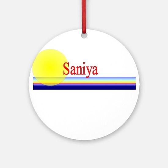 Saniya Ornament (Round)