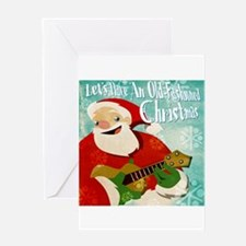 Ukulele Christmas Greeting Card (blank inside)