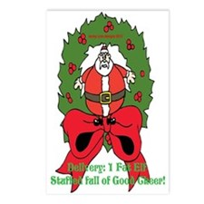 Fat Elf Christmas Postcards (Package of 8)