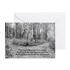 Robert Frost Greeting Card
