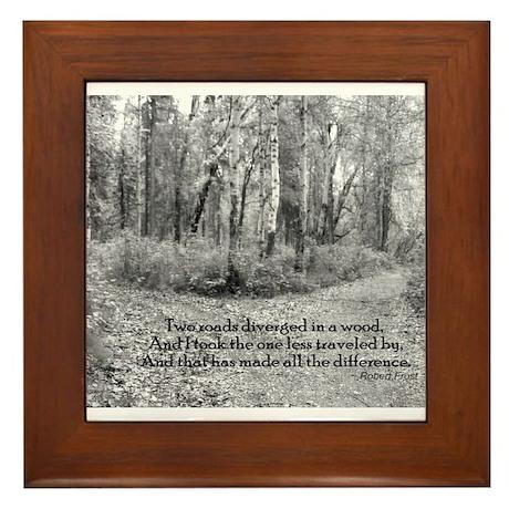 Robert Frost Framed Tile