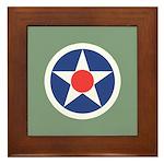 Vintage USA Insignia Framed Tile