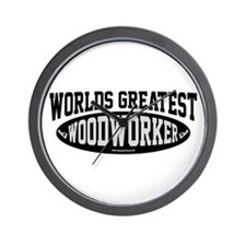 Worlds Greatest Woodworker Wall Clock