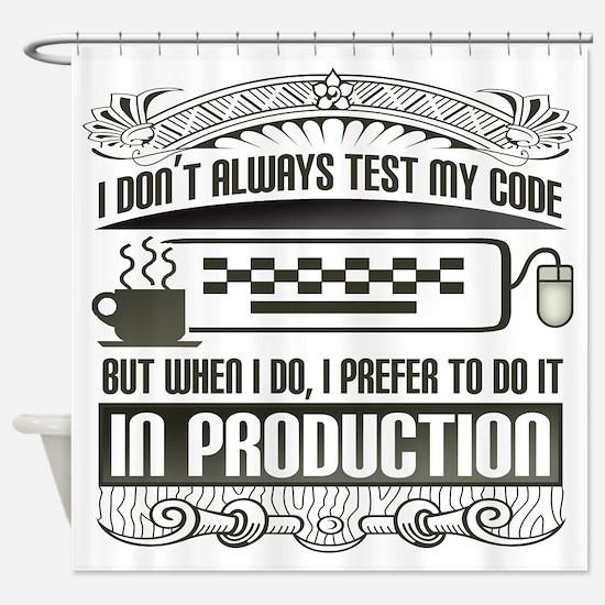test-my-code-darks.png Shower Curtain