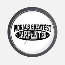 Worlds Greatest Carpenter Wall Clock
