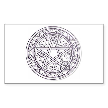 Purple Pentacle Sticker (Rectangle)