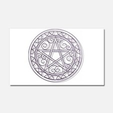 Purple Pentacle Car Magnet 20 x 12