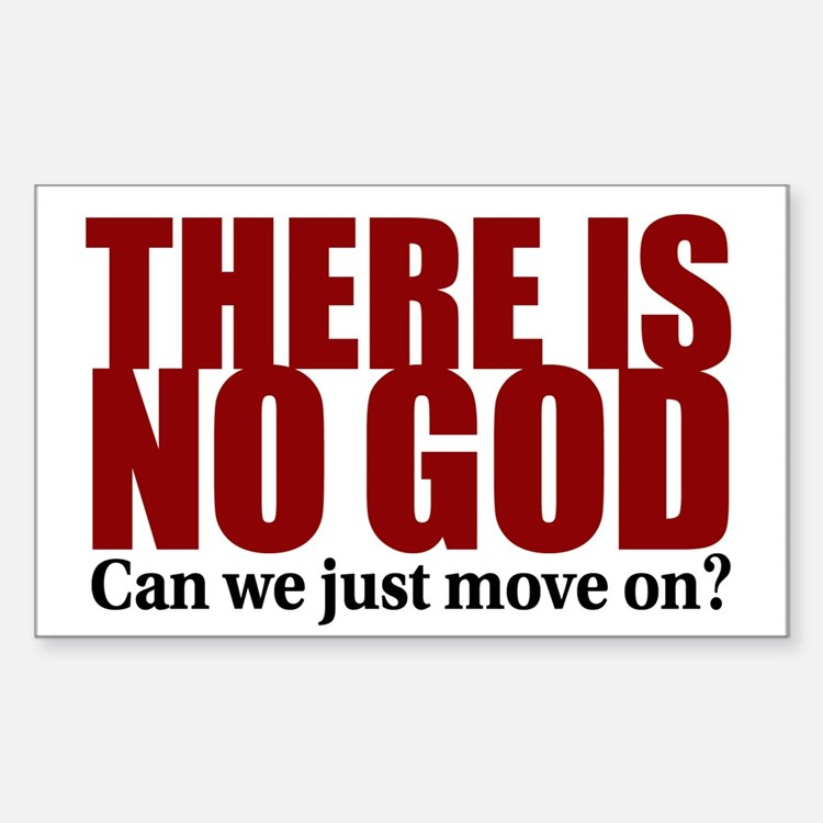 There is no God Decal