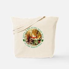 Santa & His Elves Read His Mail Tote Bag