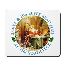 Santa & His Elves Read His Mail Mousepad