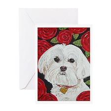 """Maltese Valentine"" Greeting Card"