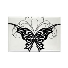 Tribal Butterfly Tattoo Flash Design Rectangle Mag