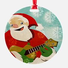 Santa Playing a Ukulele - Ornament