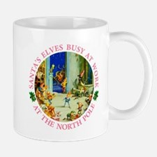 Santa's Elves Busy in His Workshop Mug