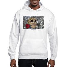 MosaicManNYC Skull and Rose Hoodie Sweatshirt