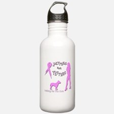 Pitbulls for Breast Cancer Water Bottle
