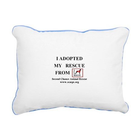 SCARPR I Adopted From Canvas Color Trim Pillows