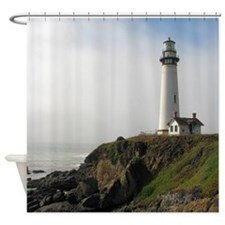 Lighthouse on Cliff Shower Curtain