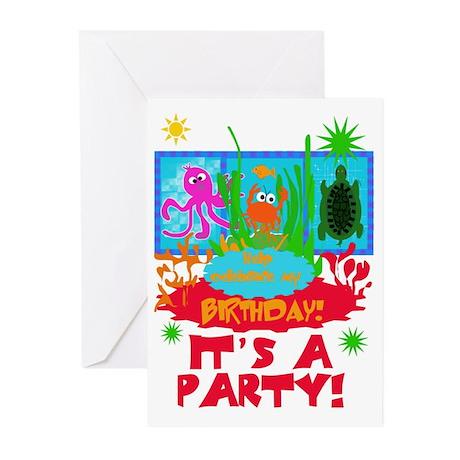 Undersea Life Birthday Invitations