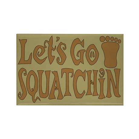 Let's Go Squatchin Rectangle Magnet (10 pack)