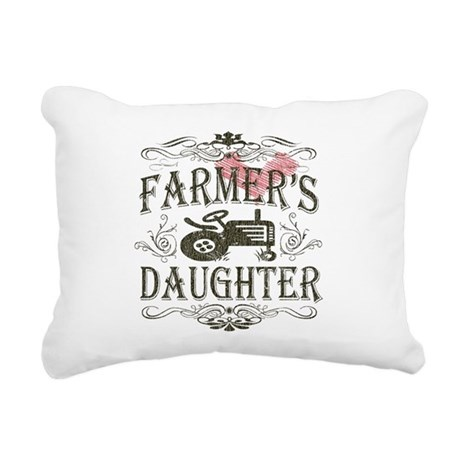 farmer-white-distress.png Rectangular Canvas Pillo