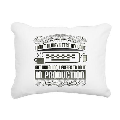 test-my-code-darks.png Rectangular Canvas Pillow