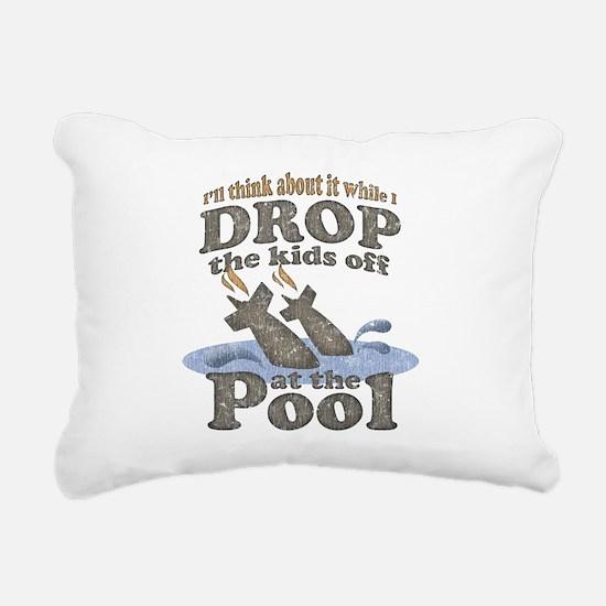 drop-off-kids-darks.png Rectangular Canvas Pillow