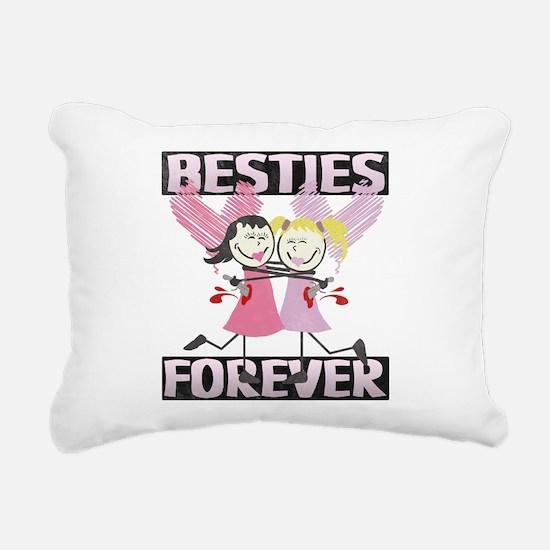BESTIES-DARKS.png Rectangular Canvas Pillow