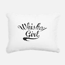Whiskey Girl Rectangular Canvas Pillow