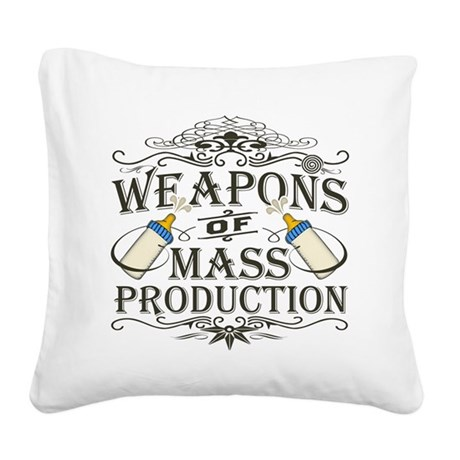 weapons-dark.png Square Canvas Pillow
