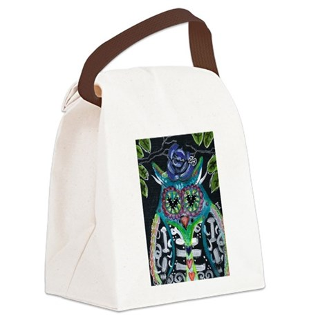 owl 1 Canvas Lunch Bag
