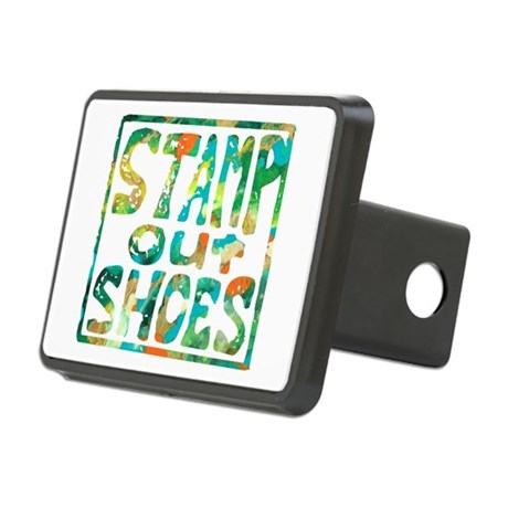 Stamp Out Shoes Happy Rectangular Hitch Cover
