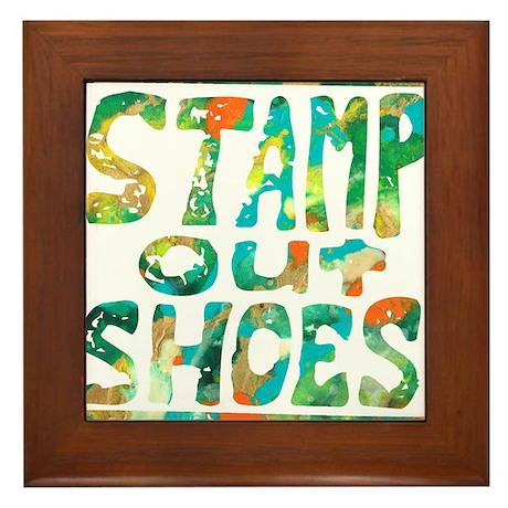Stamp Out Shoes Happy Framed Tile